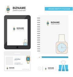 watch business logo tab app diary pvc employee vector image