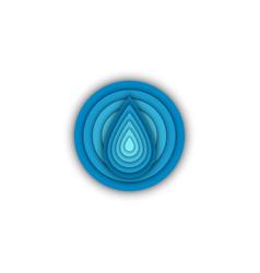 water drop round shape logo eco sticker creative vector image