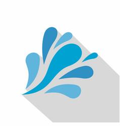 Wave splash icon flat style vector