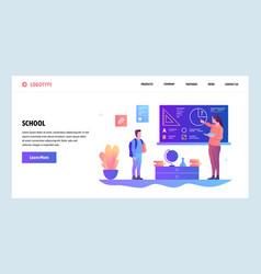 web site design template school education vector image