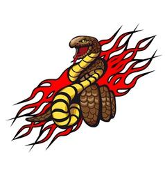 danger snake vector image