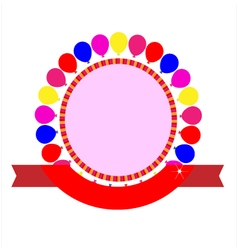 Party celebration template vector image vector image