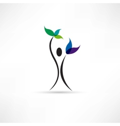 people and plant icon vector image vector image