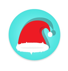 Santa claus cap on white background vector image