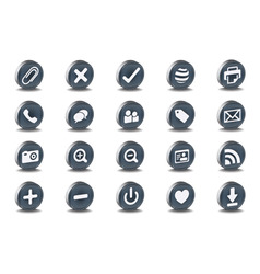 3d web icons vector image vector image