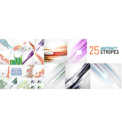 abstract line background set mega collection vector image vector image