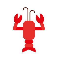 cute lobster sealife character vector image vector image