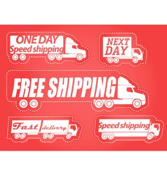 Fast delivery stickers collection vector image