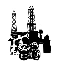 Production and sale of petroleum vector image vector image