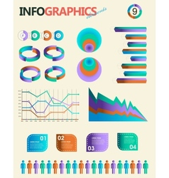 Vintage infographics set Information Graphics vector image vector image