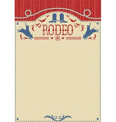 American cowboy rodeo poster for textCowboy riding vector image vector image