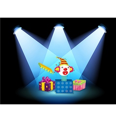 Gift boxes with spotlights vector image