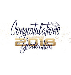 graduation label text for graduation vector image vector image