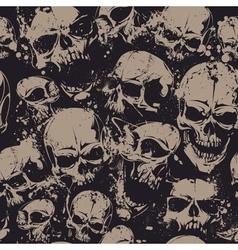 Grunge Skull Seamless 2 vector image vector image