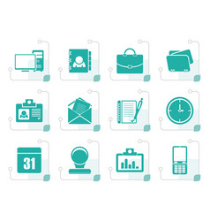 stylized web applications business and office vector image