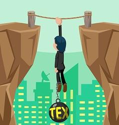 Worker Danger Tax Cliff Pendulum vector image vector image