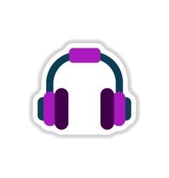 color label design earphones of music headphones vector image vector image