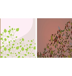 Floral background set vector image