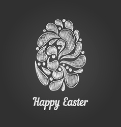 Greeting card with doodle easter egg-4 vector image
