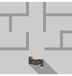Man entering maze vector image