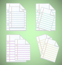 Note paper sheet with colorful lines vector image vector image