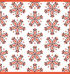 abstract colorful seamless red floral pattern vector image