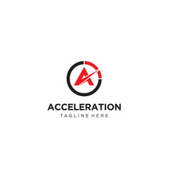 Acceleration logo design concept vector