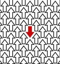 Anti trend arrow pattern vector