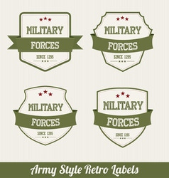 army labels vector image