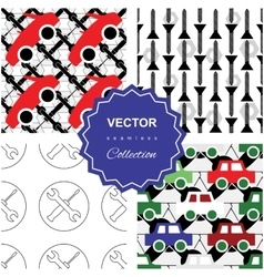 Auto service or car repair pattern vector