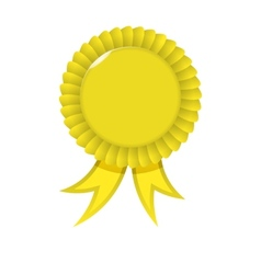 Award yellow ribbon vector