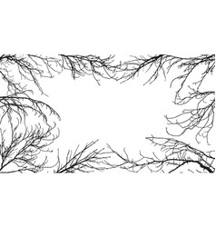 Background silhouettes branches vector