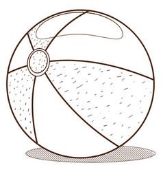 ball kids toys outline drawing for children vector image