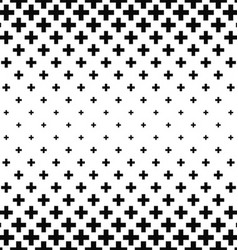 Black and white greek cross pattern vector