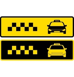 black and yellow taxi icons vector image