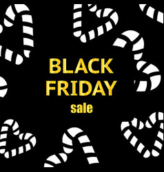black friday shopping celebration vip sale vector image