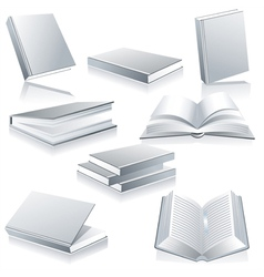 Blank book cover white isolated vector image