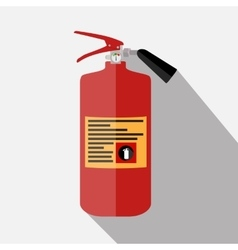 Blue Fire Extinguisher Isolated on White vector