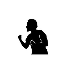 boxer stance silhouette vector image