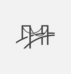 bridge logo design tempalte bridge vector image