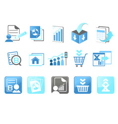 Business technology internet website icons vector