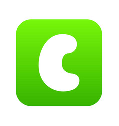Cashew icon digital green vector