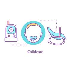 childcare concept icon vector image