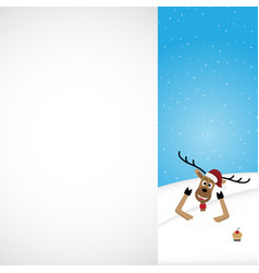 christmas reindeer white background vector image