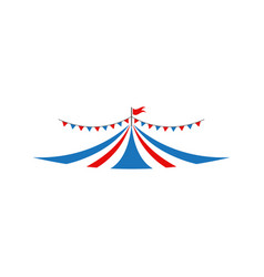 circus tent graphic design template isolated vector image