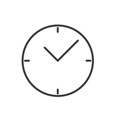 clock line icon on a white background vector image
