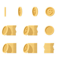 coins stack vector image