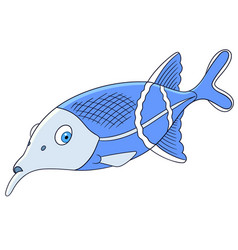 cute elephantnose fish vector image