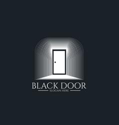 Door gate logo for home entrance minimal wood vector