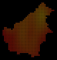 Dotted orange borneo island map vector